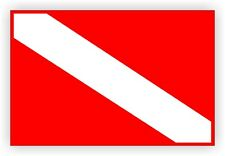 Scuba Diving Gear Flag Sticker | Dive Flags Decal Label Submerisible Waterproof