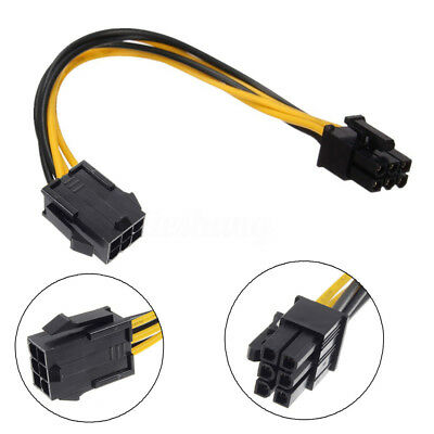 New 6 pin to 6 pin PCI-Extension Power Connector Cable for Apple Mac Video Card