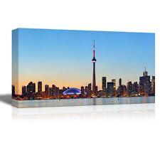 "Canvas Prints - Toronto Sunset Over Lake Panorama with Urban Skyline - 12"" x 24"""