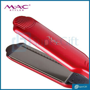 MAC-Flat-Iron-Pro-Hair-Straighteners-With-2-IN-1-Nano-Titanium-Plates-Red-UK