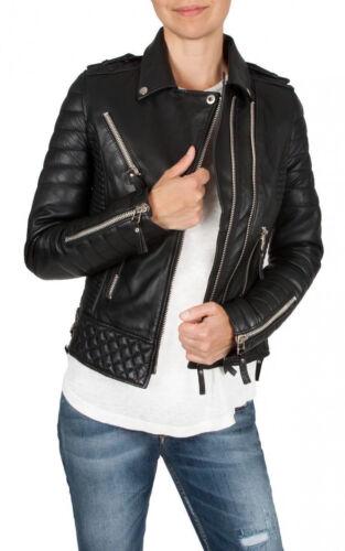 Leo Veste Moto En Biker Femmes Souple Dames Classique Rétro Fashion King Cuir doeCxB
