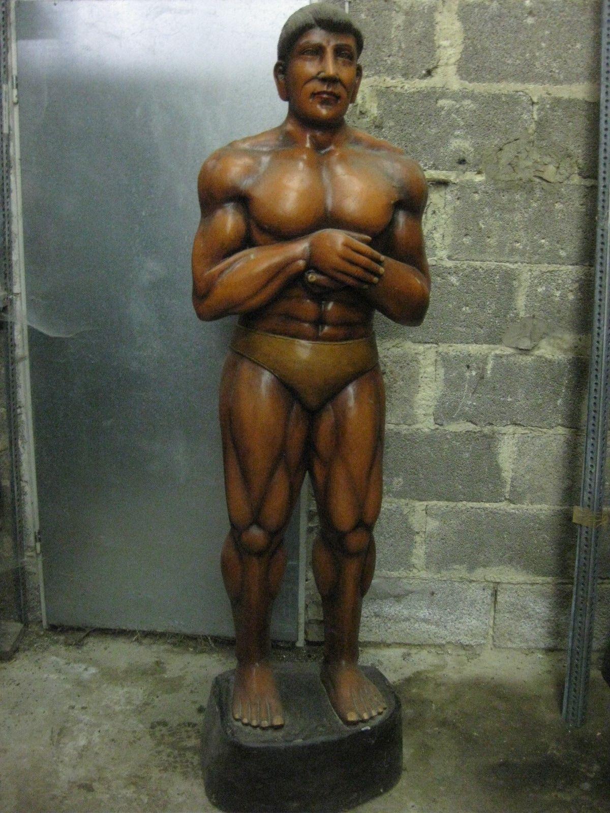 Bodybilderfigur Männerfigur Mann Holz Höhe190cm Kraftsportler Fitnessstudio