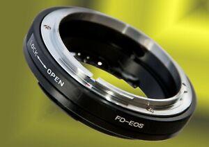 Makro-einstellbar-Canon-FD-mount-Objektiv-fuer-EF-EOS-Kamera-Adapter-Blendensteuerung
