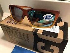 New Costa Del Mar Cut Sunglasses 400G Green Mirror Lens / Sunset Fade Frms NIB