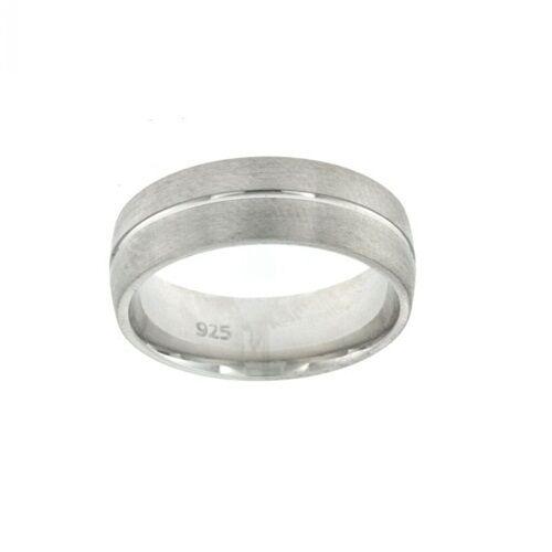 Argent Sterling 925 Mariage Bande Bague Homme Solid Comfort Fit engagement Bijoux
