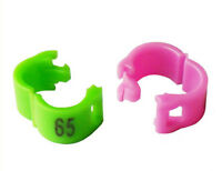 3mm 1-100 Numbered clip snap  Bird Ring Leg Bands Parrot Finch Canary Grouped