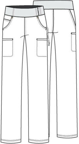 Details about  /Glacier Blue Cherokee Scrubs iflex Mid Rise Straight Leg Pull On Pant CK002 GLBU