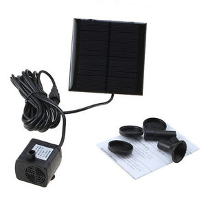 solar water pump power panel kit fountain pool garden pond submersible watering. Black Bedroom Furniture Sets. Home Design Ideas