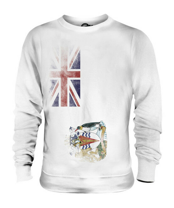 BRITISH ANTARTIC TERRITORY FADED FLAG UNISEX SWEATER TOP FOOTBALL GIFT SHIRT