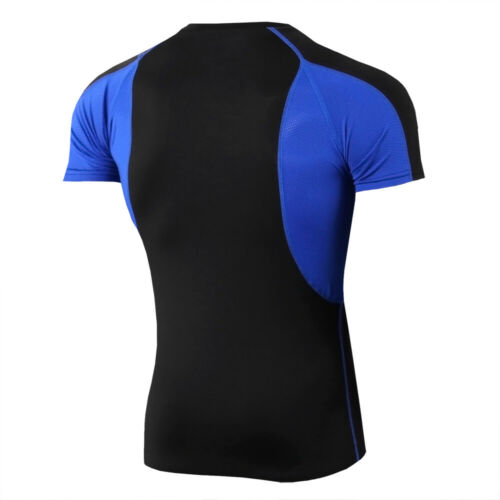 Men/'s Athletic Compression Shirt Sport Gym Running Short Sleeve Top Cool Dry Tee