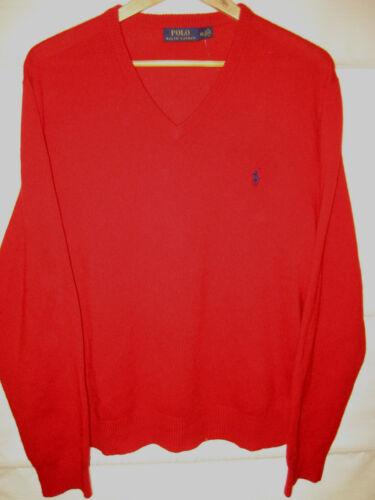 italiana maglione lavorato Polo ricamato maglia Xl a lana leggero Lauren logo Ralph perfetto pwxwIqX6