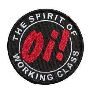Oi-The-Spirit-Of-Working-Class-patch-gestickter-Aufnaeher
