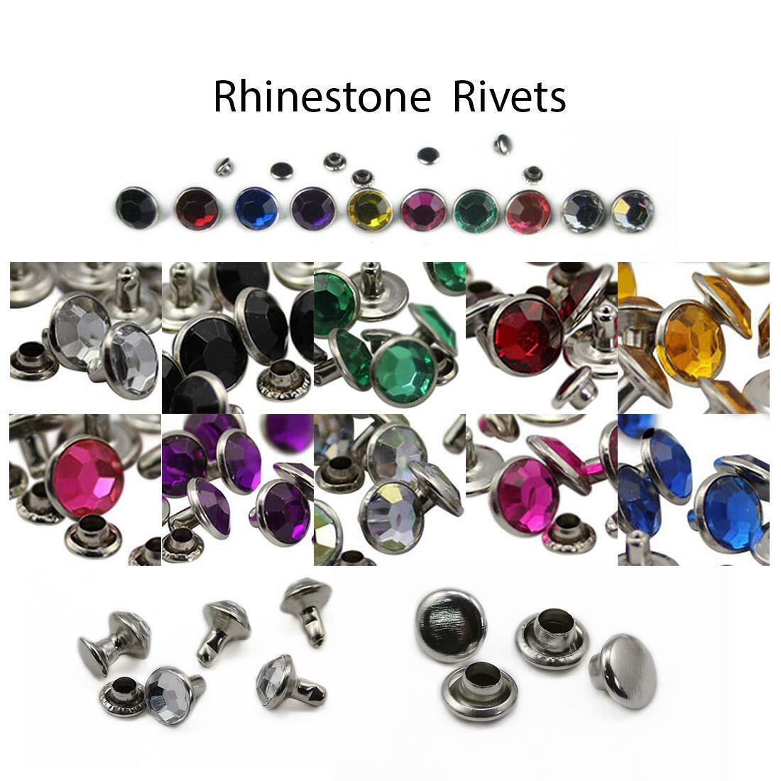 20 PCS 11mm Crystal Clear AB H702 Acrylic Rhinestone Rivets