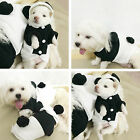 Panda Hoodie Costume Dog Cat Clothes Pet Jacket Coat Puppy Apparel Coral Fleece