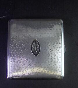 edles  Etui / Zigarettenetui / 800er Silber Monogramm AT oder HT