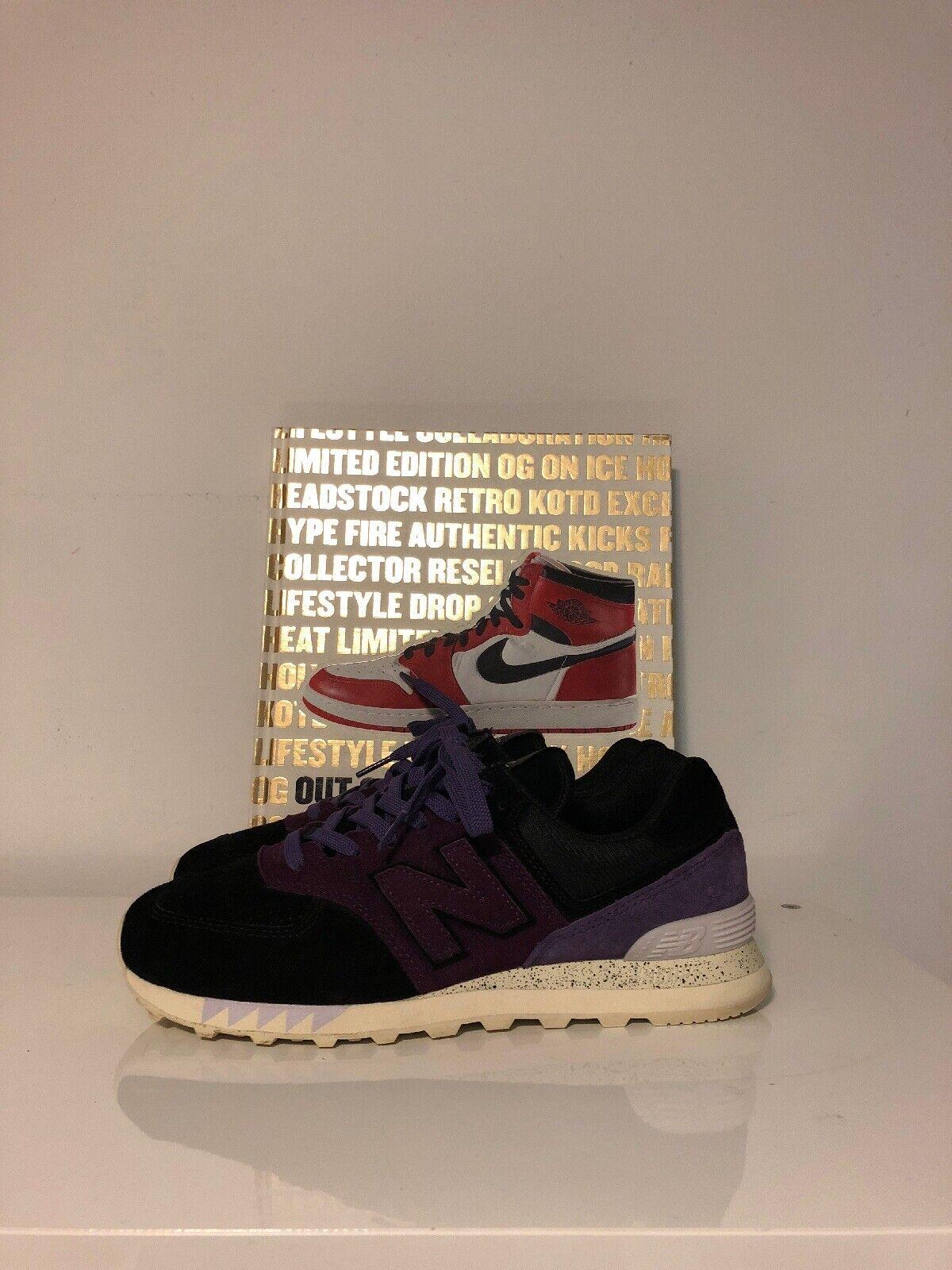 New balance 574 Zapatillas glorioso Tassie Diablo Sz 9 Us Púrpura Negro