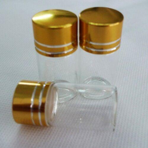 10pcs 22x40mm minuscule petit nouveau vide clair 7 ml bouteilles flacons en verre avec vis Capa