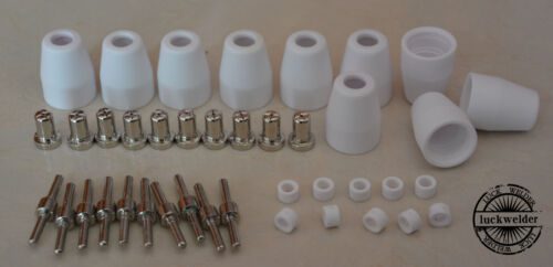 40pk Extended Nickel-plated Nozzle LG-40 PT-31 Plasma Cutting Torch CUT40 CT-312