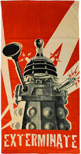 DOCTOR WHO - Dalek Exterminate 150cm x 75cm Beach Towel (The Robe Factory) #NEW