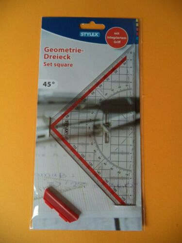 Geodreieck //// Geometrie-Dreieck //// groß //// mit Griff //// NEU /& OVP ++ ++