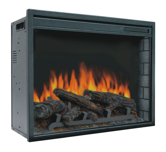 Miraculous 23 Electric Firebox Insert With Fan Heater And Glowing Logs For Fireplace Download Free Architecture Designs Griteanizatbritishbridgeorg
