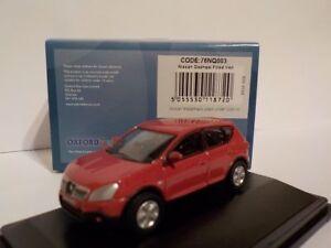 Nissan-Qashqai-Red-Model-Cars-Oxford-Diecast