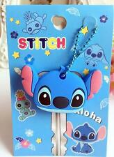 cute stitch blue head silica gel Key Met Protective Cover anime key ornament