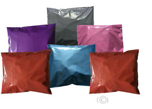 Coloured-Mailing-Bags-Postage-Plastic-Mail-Post-Polythene-Strong-Seal-NEW-LOT