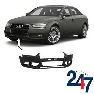 NEW-AUDI-A4-B8-FACELIFT-12-16-PRIMED-FRONT-BUMPER-WITH-HEADLIGHT-WASHER-HOLES