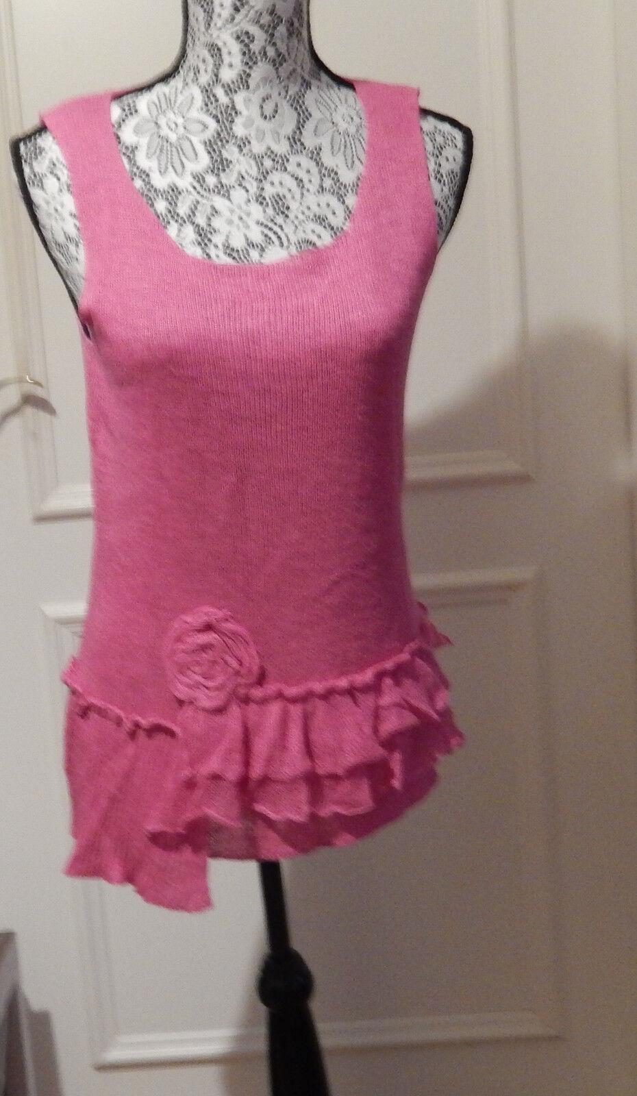 Zuza Bart Tunica Leinenstrick bonbon-Rosa XL candy-Rosa linen knit