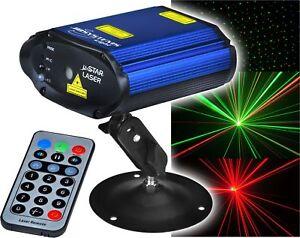 JB-Systems-Micro-Star-Show-Laser-Disco-Effekt-rot-gruen-mit-IR-Fernbedienung-NEU