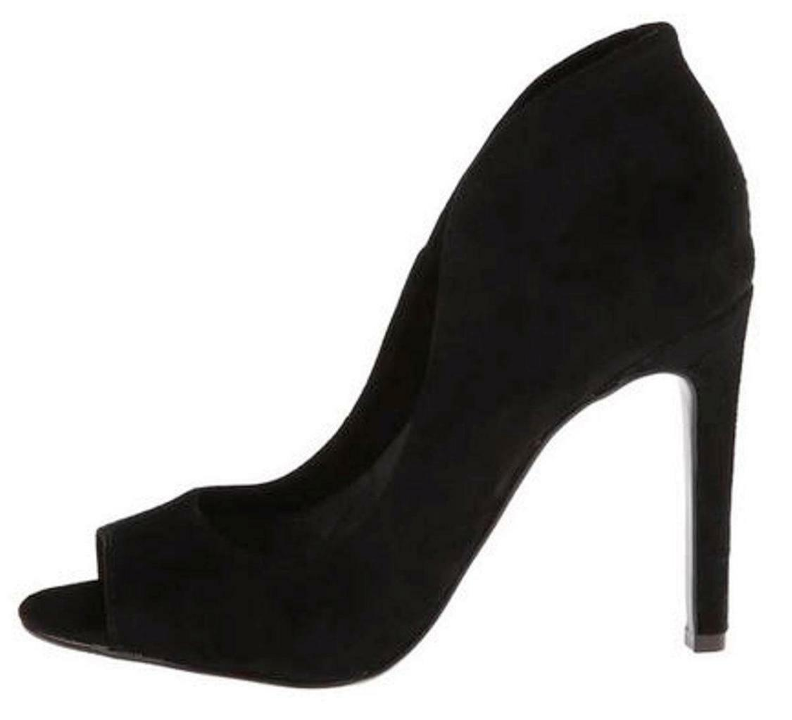 Women's shoes Vince Camuto KAROLYNN Peeptoe Pumps Heels BLACK SUEDE