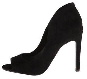 e83e676e99a Women s Shoes Vince Camuto KAROLYNN Peeptoe Pumps Heels BLACK SUEDE ...