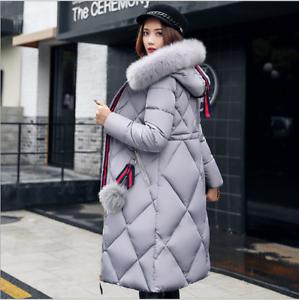 Womens-Winter-jacket-Down-Cotton-long-parka-Fur-Hood-Puffer-Coat-ladies-Outwear