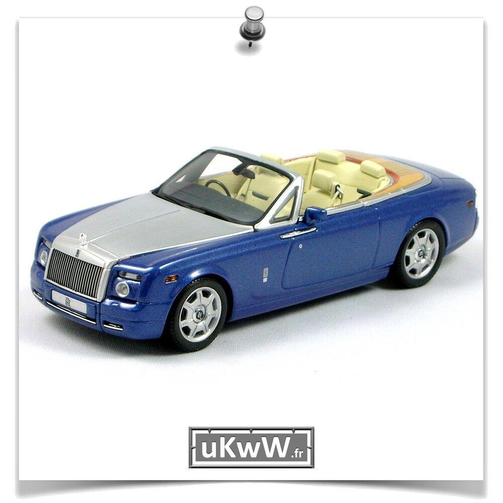 Minichamps 1 43 Rolls Royce Phantom drophead coupé 2007 bleu métal alu brossé
