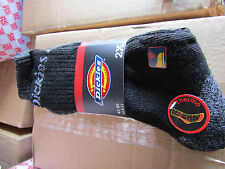 10 Pairs of DICKIES THERMAL WORK SOCKS SIZE UK 6 - 11 BLACK GREY DCK-00011 5pks