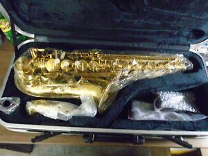 Alto Saxophone Sax Mouthpiece Cap Cover And Copper Ligature Gold-plated