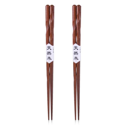 2 Paar Essstäbchen Natur Holz Gesund Eisenholz Stäbchen Geschenk Chopsticks NEU