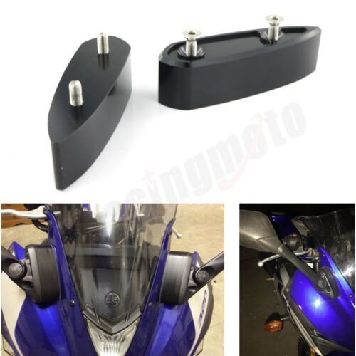 Mirror Extenders Spacer For 2015 2016 Yamaha YZF-R3 YZFR25 2014 2025 2016 2017