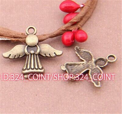P526B 50pcs Antique Bronze angel Pendant Bead Charms Accessories wholesale