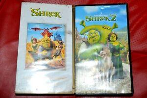 Shrek I Shrek 2 Polish Kaseta Video Vhs 2 Video Tapes Ebay