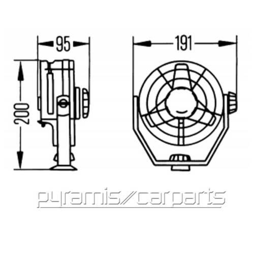 NEU 1x Hella 8EV003361-001 VENTILATOR 12V Lkw Turbo 080700 €104,95 ...