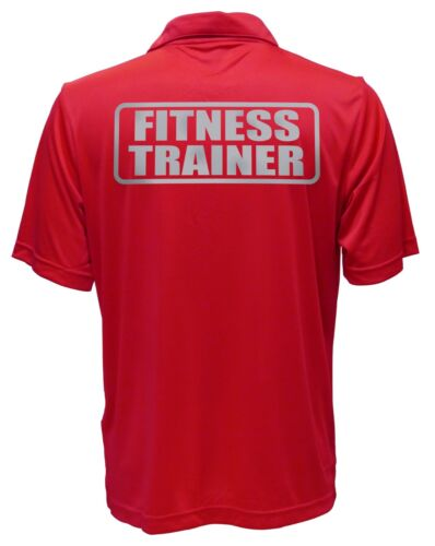 Performance Polo REFLECTIVE design Personal trainer Fitness Trainer Red Polo