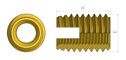Inserciones roscadas Self Tapping Tuercas Inserto de acero endurecido M2 M3 M4 M5 M6 M8 M10