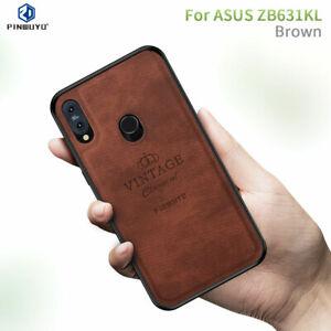 Para-ASUS-ZenFone-Max-Pro-M2-ZB631KL-Vintage-TPU-parachoques-Lona-Cuero-Estuche-Cubierta