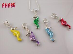 Unique-Handmade-Jewellery-Colourful-Seahorse-Pendant-Necklace-5-colours-NEW