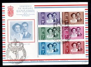 Luxembourg-1953-Marriage-Royal-Wedding-FDC-WS11318