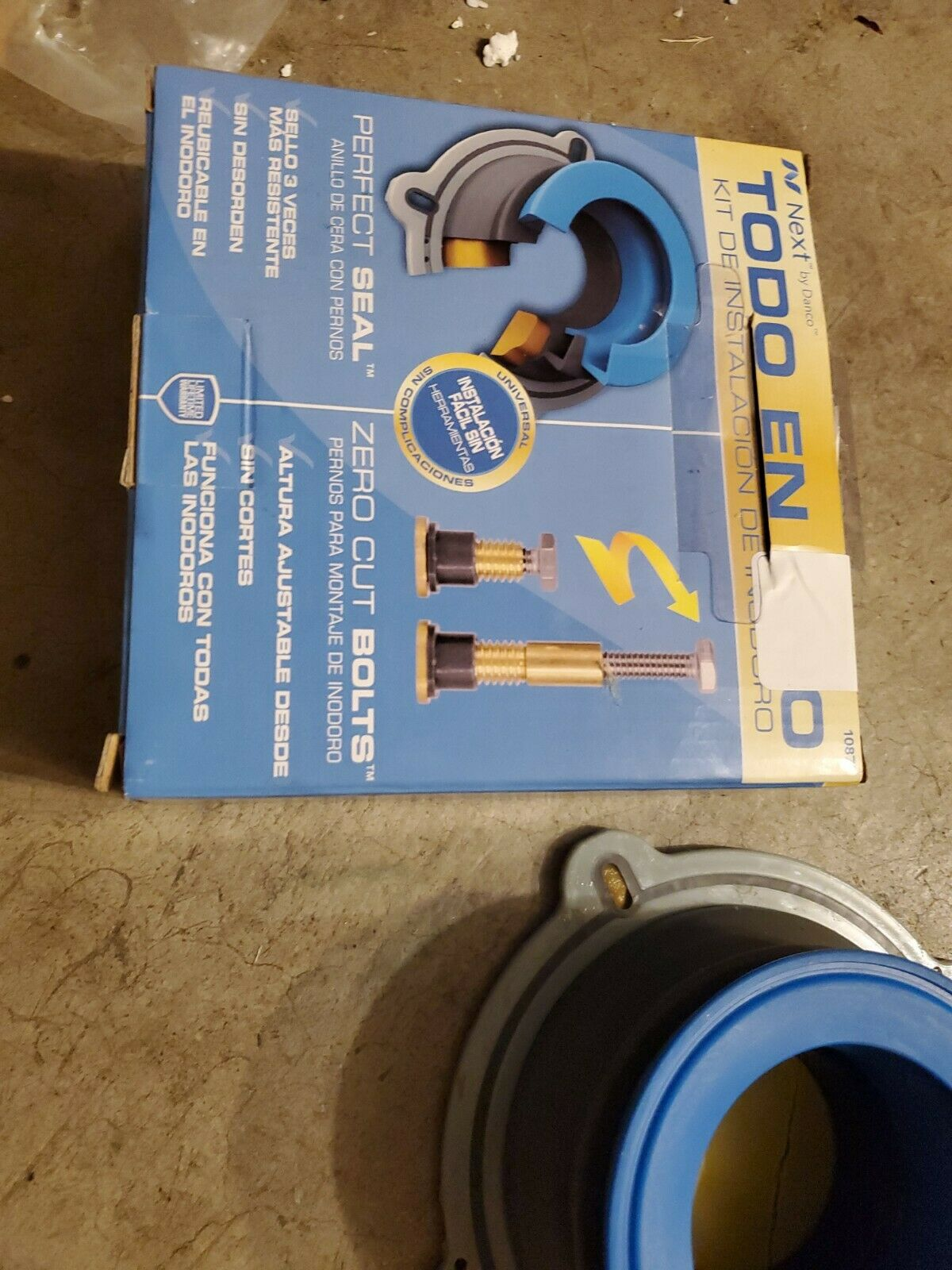 NEXT BY DANCO All-in-One Toilet Install Kit Perfect Seal Wax Ring /& Zero