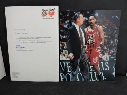 Authentic Alonzo Mourning Pat Riley 1997 Autograph Autographs Miami Heat