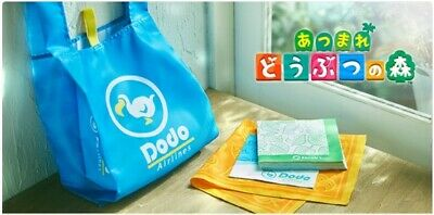 NEW Animal Crossing Dodo AirLines Eco Bag bandana napkin set